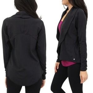 Yogalicious Black Open Front Cardigan